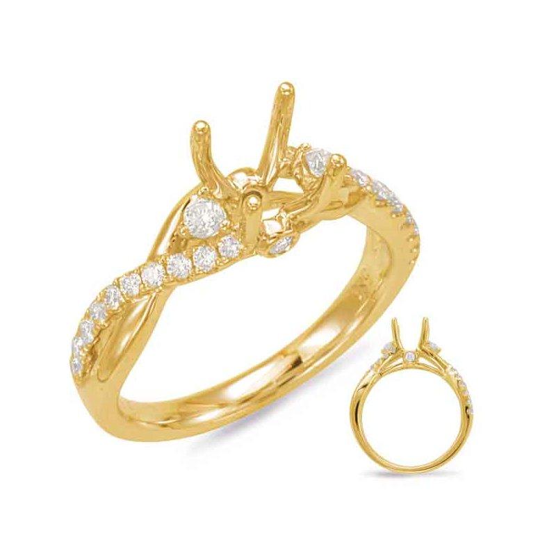 MJ Christensen Diamonds: S  Kashi & Sons Yellow Gold Engagement Ring