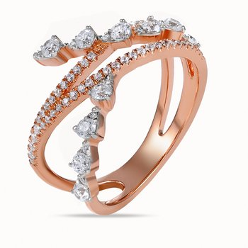 14K intricate design Ring with Diamonds 0.63C
