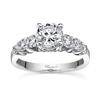 White Gold Engagement Ring - 7520L