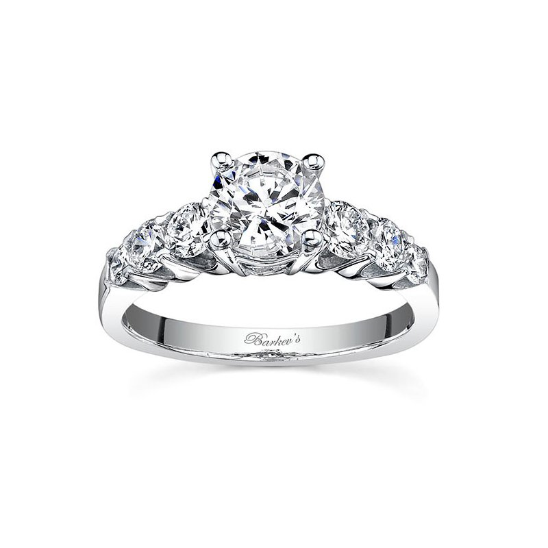 Barkev's White Gold Engagement Ring - 7520L
