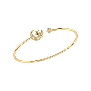 Starkissed Crescent Cuff in 14 KT Yellow Gold Vermeil on Sterling Silver
