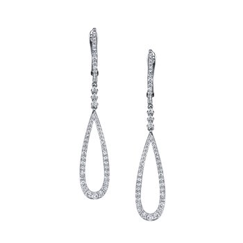 MARS 25881 Diamond Drop Earrings 0.73 ctw
