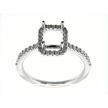 14K W RING 40RDS 0.32CT