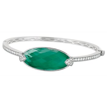 Emerald Dreams Green Agate Bangle