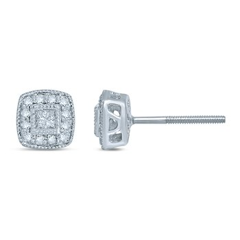14K 0.25Ct Diamond Earring
