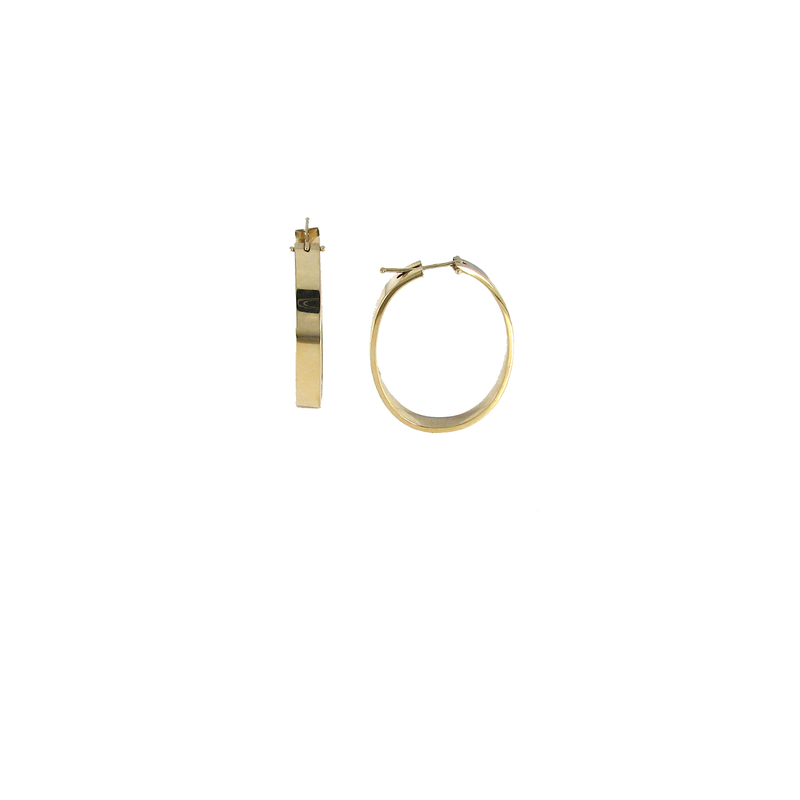 Roberto Coin 18Kt Gold Wide Oval Hoop Earrings