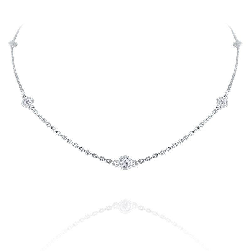 KC Designs Diamond By The Yard Necklace Set in 14 Kt. Gold