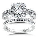 Caro74 Channel Set Diamond Wedding Band in 14K White Gold