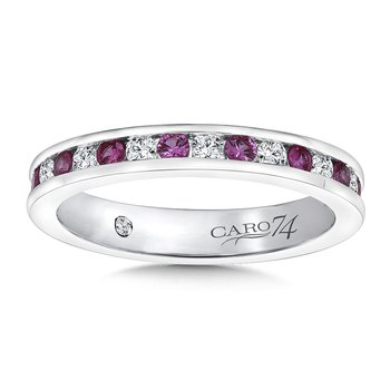 CARO 74 Eternity Band (Size 6.5) in 14K White Gold (0.44ct. tw.)