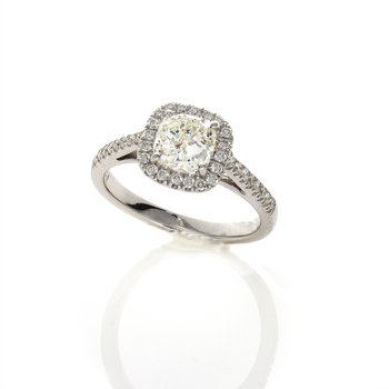 CUSHION CUT DIAMOND .95 CT