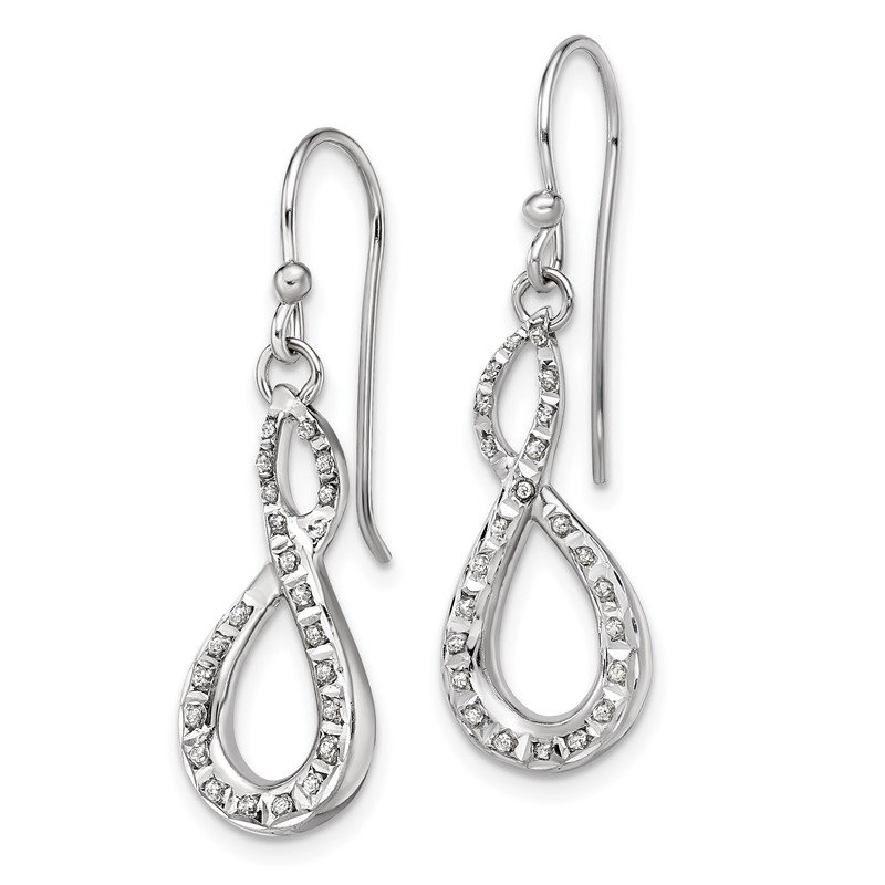 Quality Gold Sterling Silver Diamond Mystique Figure 8 Earrings