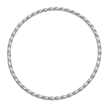 14k White Gold 2.50mm Twisted Slip-on Bangle