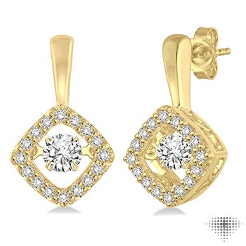 Asscher Shape Emotion Diamond Earrings