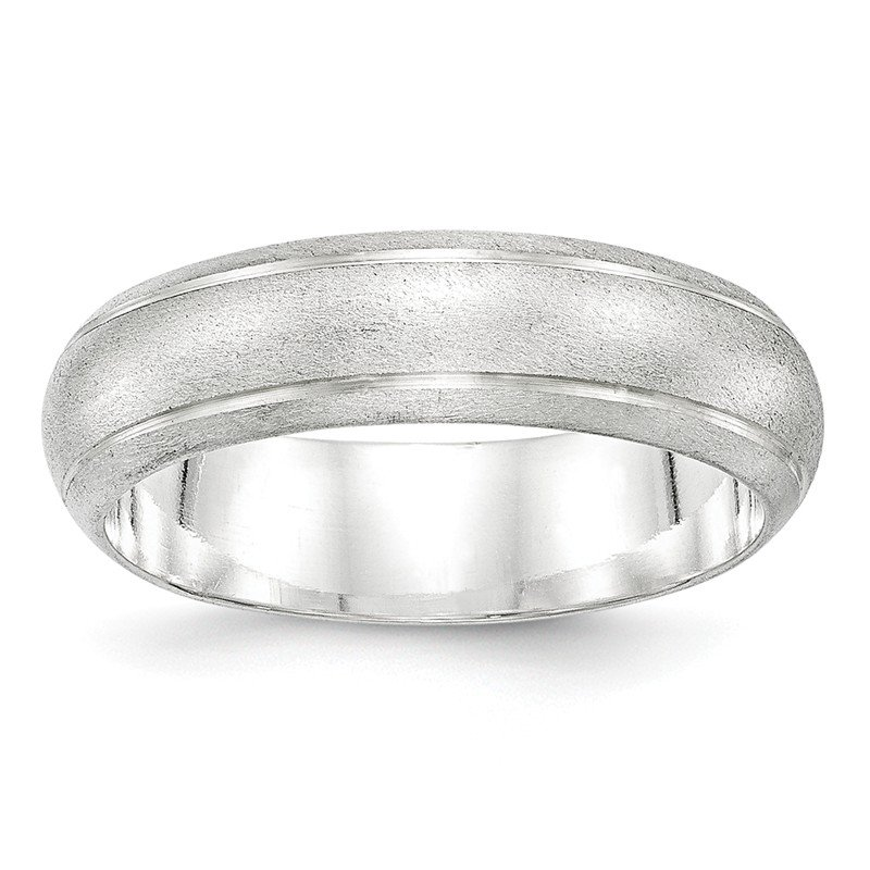 Arizona Diamond Center Collection Sterling Silver 6mm Satin Finish Band