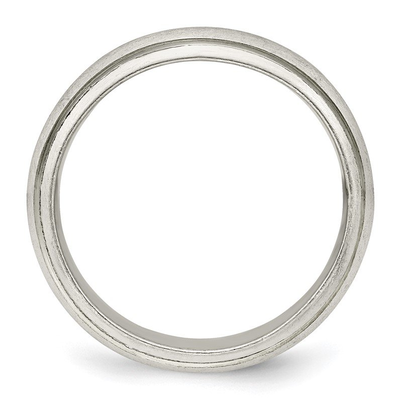 Quality Gold Sterling Silver 6mm Satin Finish Band