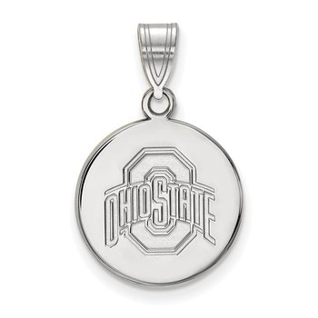 Sterling Silver Ohio State University NCAA Pendant