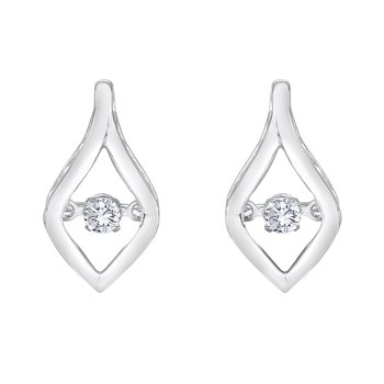SILVER 1/6CTW HEARTBEAT COLLECTION EARRING