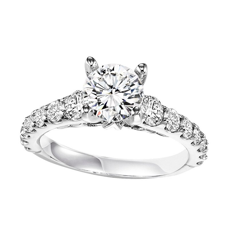 Bridal Bells 14K Diamond Engagement Ring 1 ctw