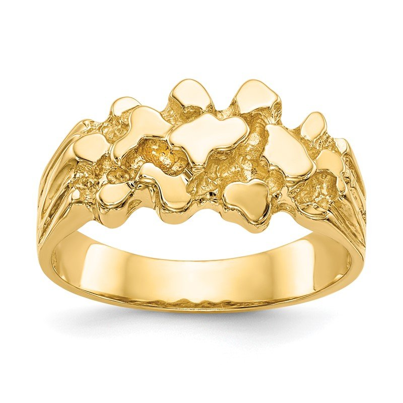 Quality Gold 14k Nugget Ring
