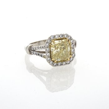 FANCY YELLOW RADIANT CUT 2.35 CTS