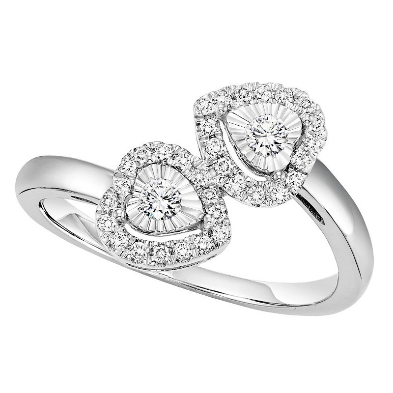 Mixables Silver Diamond Ring 1/4 ctw