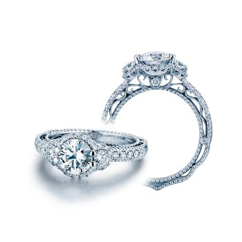Venetian Halo Pave Engagement Ring