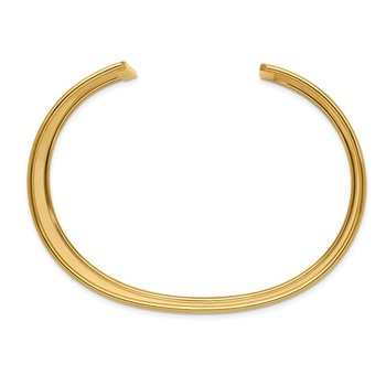14K 37mm Polished Cuff Bangle