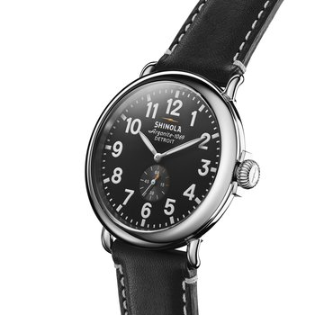 Watch: Runwell 47mm, Black Leather Strap