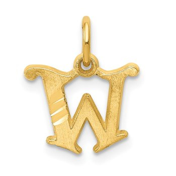 14k Letter W Initial Charm