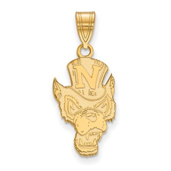 Gold-Plated Sterling Silver University of Nevada NCAA Pendant