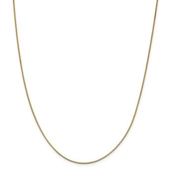 14k .95mm Box Chain