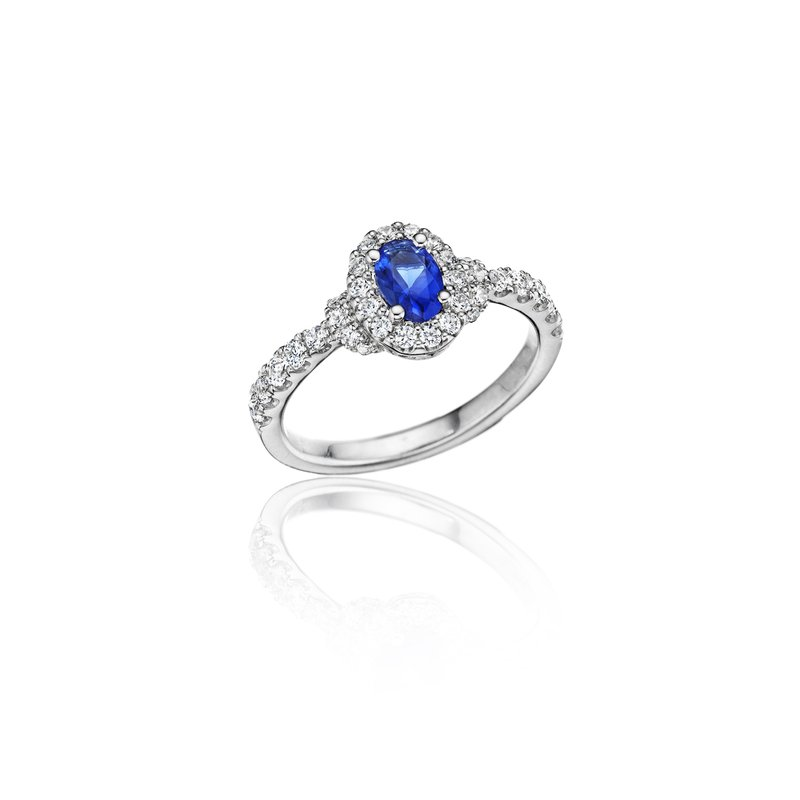 Fana Pure Perfection Dainty Sapphire and Diamond Ring