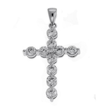 White Gold Cross Pendant