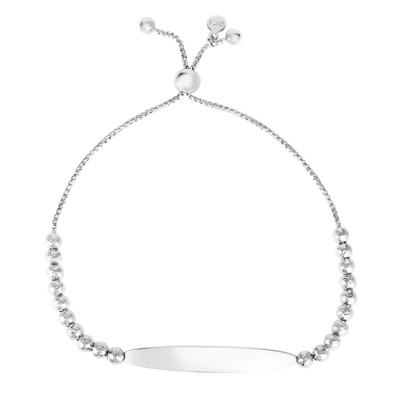 Royal Chain Sterling Silver Bead and Bar Friendship Bracelet