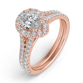 Rose Gold Pave Engagement Ring