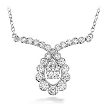 0.8 ctw. Aerial Regal Scroll Drop Necklace
