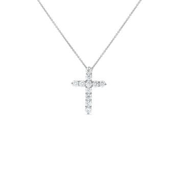 18KT GOLD DIAMOND LARGE CROSS PENDANT