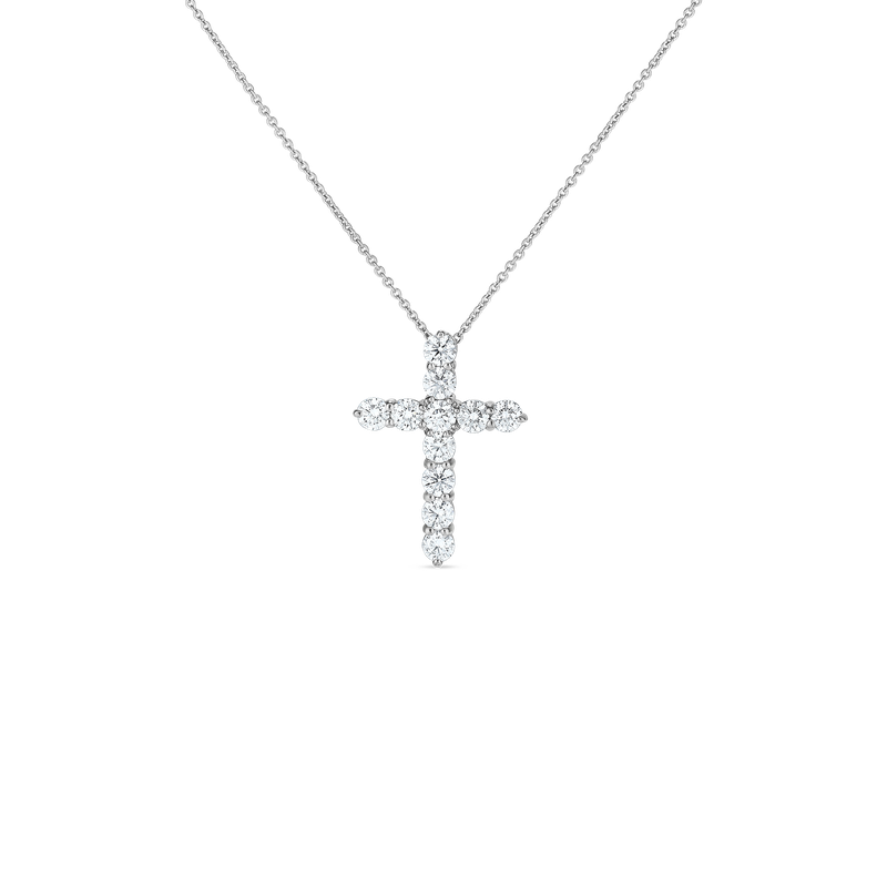 Roberto Coin 18Kt Gold Diamond Large Cross Pendant