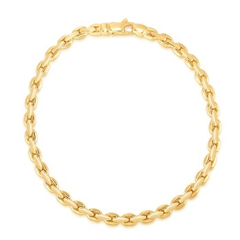 14K Gold Fancy Interlocking Link