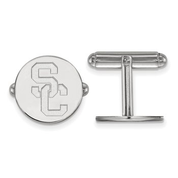 Sterling Silver University of Southern California NCAA Cuff Links