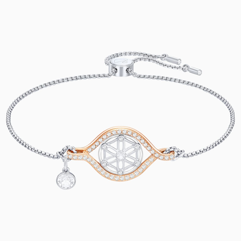 Humanist Flower of Life Bracelet, White, Mixed plating