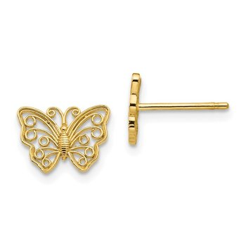14K Butterfly Post Earrings