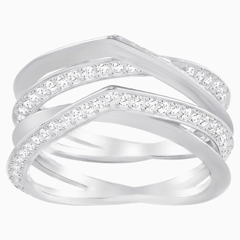 Genius Ring, White, Rhodium Plating