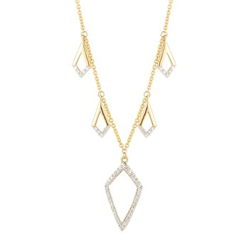14K drop necklace 54 Diamonds 0.18C