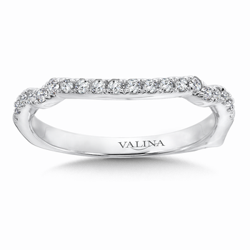 Diamond and 14K White Gold Wedding Ring  (0.2 ct. tw.)