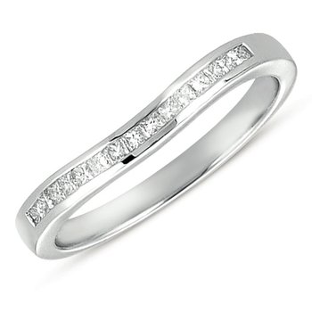 Curved Platinum Princess Band