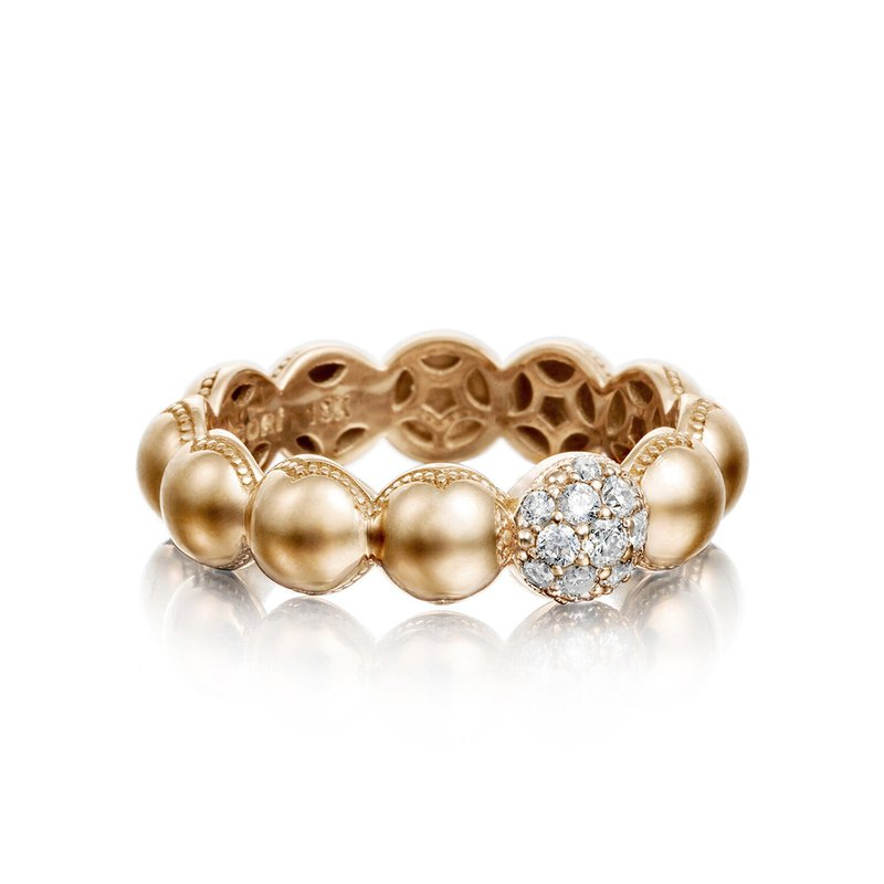 Tacori Fashion Pavé Dew Droplets Ring in Rose Gold with Diamonds