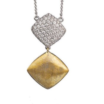 Diamond Two-Tone Pendant