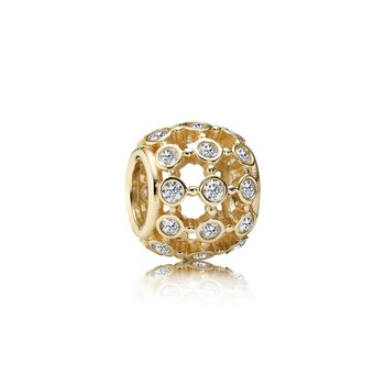In The Spotlight, Clear CZ & 14K Gold