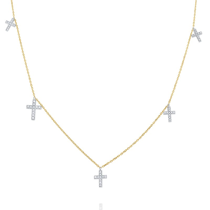 KC Designs 14k Gold and Diamond Cross Charms Necklace